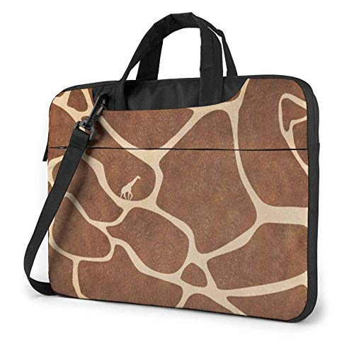 Bolsa para portátil con Textura de Jirafa, Bandolera para Ordenador portátil, Bolsa de Mensajero de 13 Pulgadas, Impermeable, Funda para Ordenador portátil, maletín de Transporte