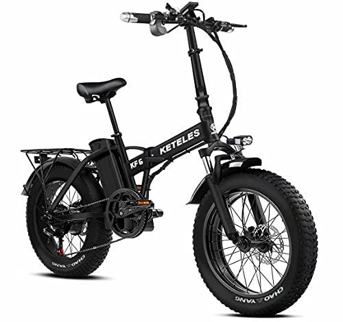 20 Pollici Bicicletta Elettrica Pieghevole per Uomo e Donna, 4,0 Pollici Fat Tire, Batteria Rimovibile da 48 V 18Ah, 1000 W Ebike è adatta per neve, montagna, sabbia