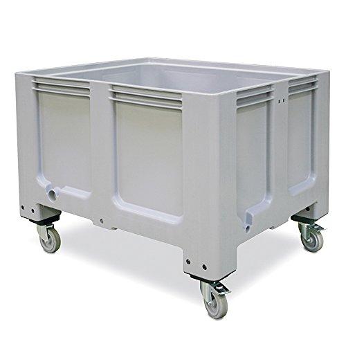 ISO Palettenbox mit 4 Rollen, LxBxH 1200x1000x915 mm, für Tiefkühlhäuser geeignet