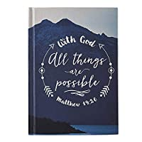 Inspirational With God All Things Are Possible ハードカバージャーナル 6 1/4インチ