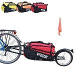 Polironeshop Vector Remolque para Bici Bicicleta de trasporte por cicloturismo Carro Carrito (Rojo)