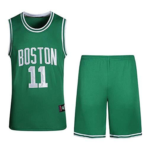 ASSD Gli Uomini di Pallacanestro Maglie Set - NBA Celtics # 11 Irving Uniforme di Basket Estivo Ricamato Camicia Canotta Pantaloncini (Color : Green, Size : XXL)