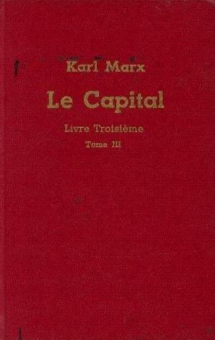 Le capital livre troisième tome 3