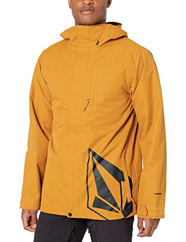 Volcom Men's 17 Forty Insulated Snow Jacket, Resin Gold, Medium