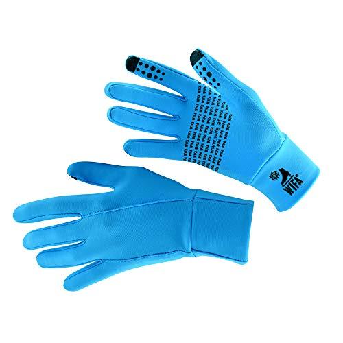 WIFA Eislauf und Trainingshandschuhe Touchscreen rutschfest atmungsaktiv für Kinder und Erwachsene (blau, 1)