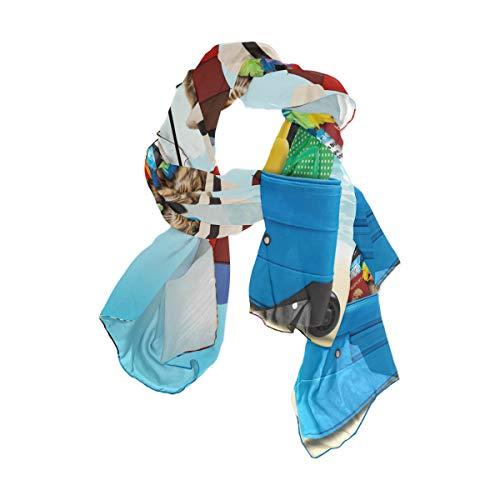 Mnsruu - Paraguas largo de gatito de gasa de seda