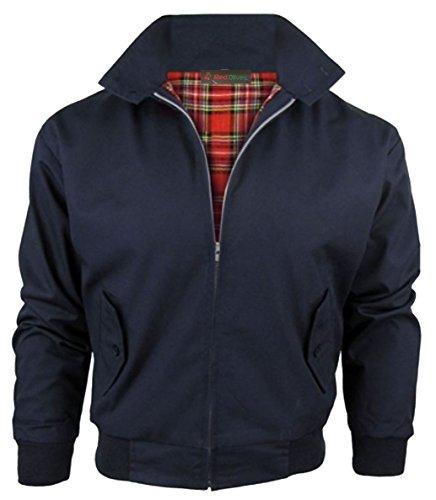 Klassische Harrington-Jacke für Herren, Kinder, Jungen, Mädchen, Vintage-Stil, Retro, Bombermantel Gr. XXXL, navy