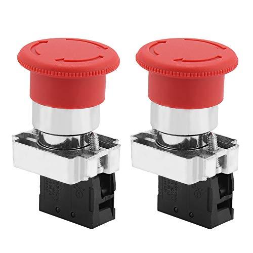 Weikeya Interruptor de Parada de Emergencia Rojo, Interruptor de Emergencia de 600...