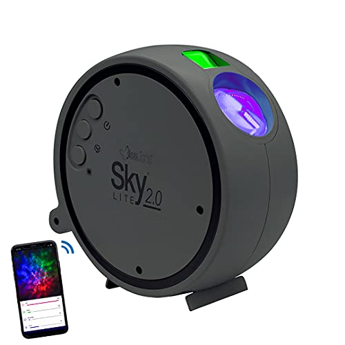 BlissLights Sky Lite 2.0 - RGB LED Laser Star Projector, Galaxy Lighting, Nebula Lamp for Gaming Room, Home Theater, Bedroom Night Light, or Mood Ambiance (Green Stars, Smart App Control)