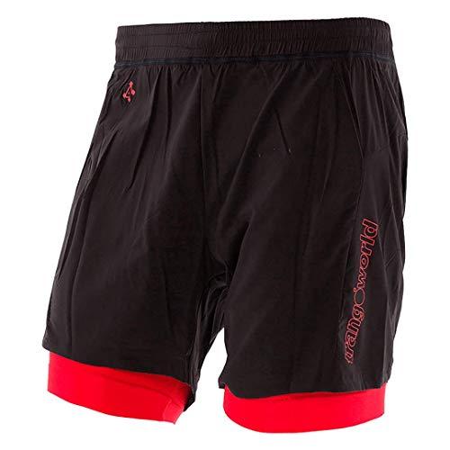 Trangoworld Tierz - Pant. Short pour Homme. M Noir/Rouge