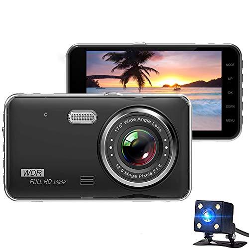 Dash CAM 1080P FHD Grabadora De Conducción De Automóviles con Gran Angular De 170 ° con WDR, Sensor G, Monitor De Estacionamiento, Grabación En Bucle, Detección De Movimiento