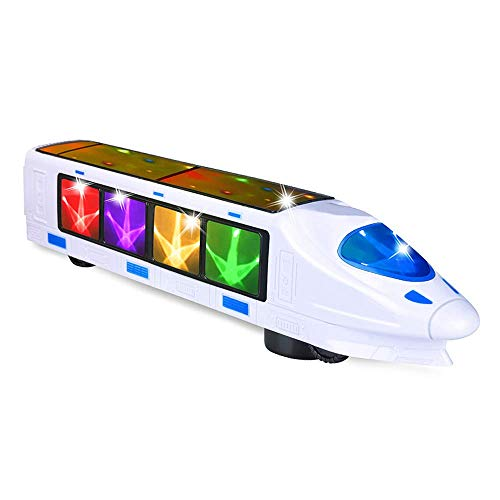 CYKT Train Toys for 2 Years Old Boys, Beautiful 3D Lightning Electric Train, Creative Gift Toys for 2, 3, 4, 5, 6 Year Old Boys