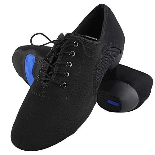 Tbest Zapatos Baile Latino Hombre Mujer,Zapatillas de Baile Latino Danza Suaves y Cómodos Zapatos Latinos de Salón Zapatos de Baile Modernos al Aire Libre para Salsa Latina Tango(43)