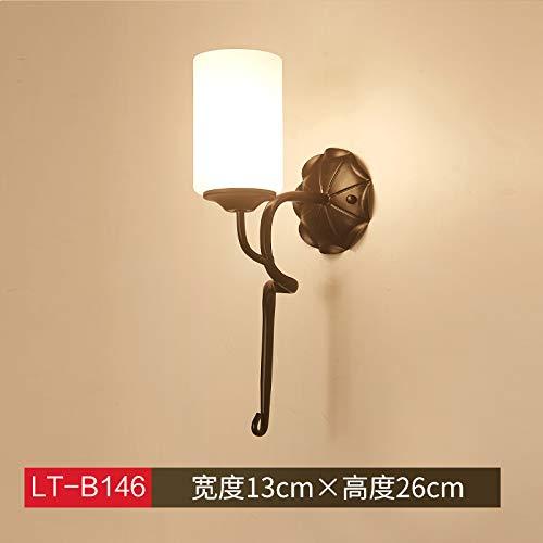 Agorl Nordic lampe de chevet applique murale chambre simple éclairage créatif salon applique murale allée, cyan LT 146+ lumière chaude