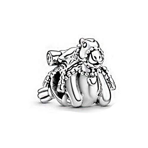 LISHOU Joyería De Plata Esterlina 925 para Mujer Cuentas De Dijes De Camello De Verano Pulseras Pandora Europeas Collares Fabricación De Joyas DIY