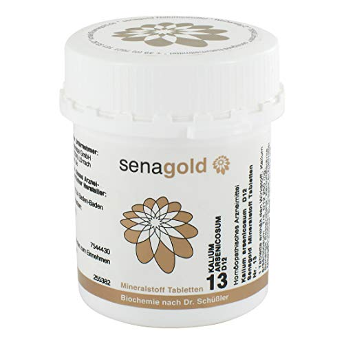 Schüßler Salz Nr.13 - Kalium arsenic. D12, 400 Tabletten, glutenfrei