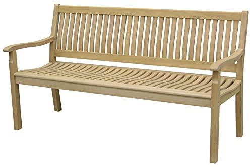 Tarrington House 3-Sitzer Bank Bolton aus wetterfestem Eukalyptus-Holz - mit Armlehnen, Rückenlehne, geeignet für Outdoor, Gastronomie, Garten, Terasse, Balkon - 160 x 70 cm