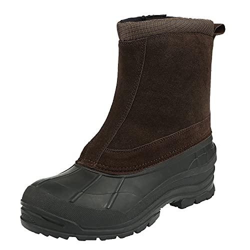 Northside Men's Ankle Winter Boot Snow, Dark Brown, 11