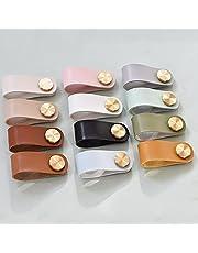 Lade Knoppen Deurknop 2 Stks 12 Kleuren Meubels Lade Knop Messing Garderobe Kast Kast Handvat Deur Trekt Milieuvriendelijke Kunstleer