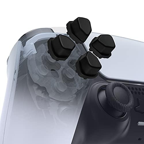 eXtremeRate D-pad Divisi Ergonomici(SDP) per PS5 Controller Tasti Direzionali per PS4 Dpad Indipendenti per Playstation 5 Pulsanti Ricambio per Playstation 4 Slim Pro Joystick-Nero