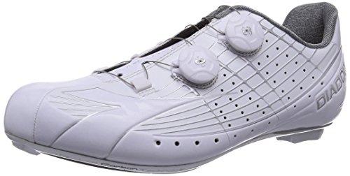 Diadora VORTEX-PRO - Zapatillas de ciclismo de material sintético para mujer, color blanco, talla 44