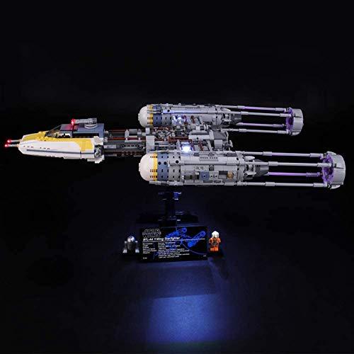 ADMLZQQ LED-Lichtset für Lego Star Wars Y-Wing Starfighter, kompatibel mit Lego 75181-Modellbausteinen -...