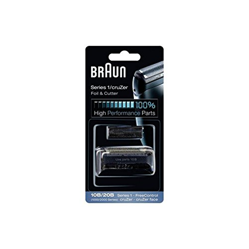 Braun Razor Replacement Foil & Cutter Cassette 10B 20B 180 190 1735 1775 5728 5729 170S (1000/2000 Series) 10B 20B by Braun