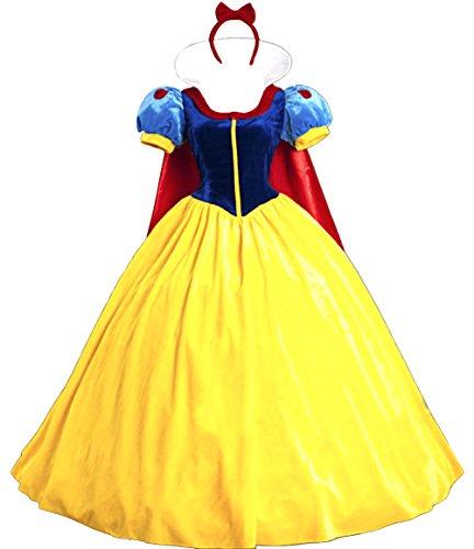 Biancaneve Vestito Donna Woman Snow White Dress SNWW01 (XL)