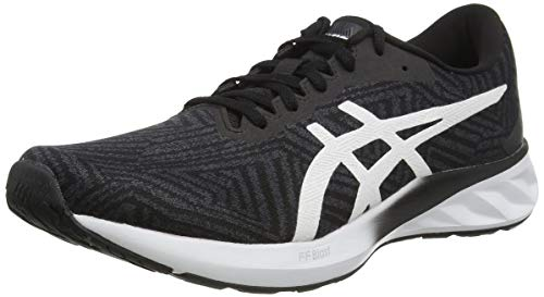 ASICS Womens Roadblast Running Shoe, Black/White,40 EU