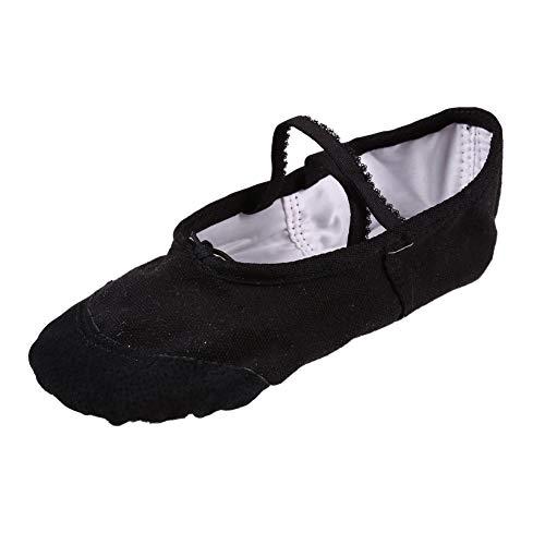 Miyanuby Mädchen Ballettschuhe Tanzschuhe Ballett Gymnastik Schuhe Geteilte Ledersohle Classic Dance Schuhe für Mädchen und Damen Größen 24-42