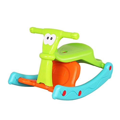 NXYJD Rocking Horse Trojan Children's Rocking Horse Baby Birthday Gift Dual Use Baby Toys Rocking Car Rocking Chair Dining Chair
