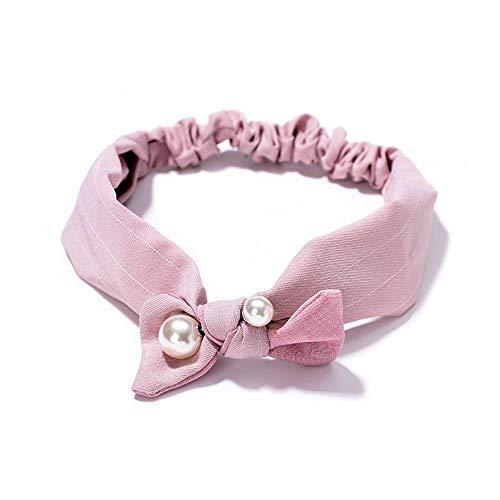 Cravate de papillon de cravate de cheveux de bande passante de cheveux de cerceau de cheveux approprié à de divers styles de cheveux, rose