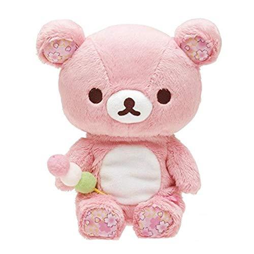 siqiwl Peluche 38cm Nette Große Sakura Rosa Bär Plüsch Spielzeug Puppen Rilakkuma Sloth Bears Weiche Kuscheltiere Puppe Baby Kinder Kissen Mädchen Geburtstag Geschenke