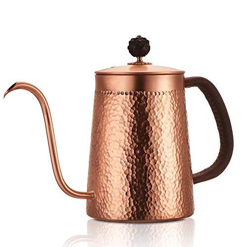 Heat Isolatie Anti-scalding Handgemaakte Retro Koper Theepot Druppel Koffiepot Lange Tuit Ketel Cup Thuis Keuken Thee Gereedschap