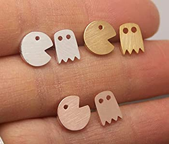 SHIPPING IN 24 HOURS! Pacman Ghost Stud Earrings ST064