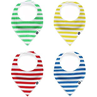 Baby Bandana Drool Bibs, Unisex 4-Pack Gift Set for Drooling and Teething, 100% Organic Cotton, Soft and Absorbent, Hypoallergenic - for Boys and Girls by Karids:Donald-trump