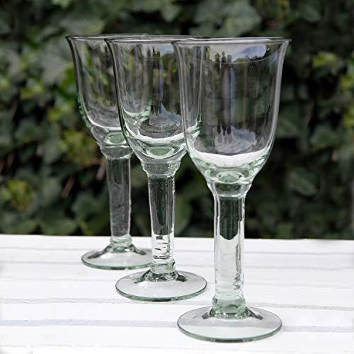 Dekocharme 6er Set Weingläser Rotweingläser Weißweingläser Recyclingglas 200 ml