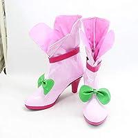 【ラベンダー】花寺のどか cos ハロワイン クリスマス コスプレ靴 コスプレ道具 ブーツ 24cm