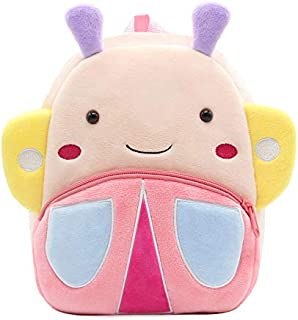 Kids School Backpacks Cute Toddler Backpack schoolbag Plush Animal Cartoon Mini Travel Bag for Baby Girls Boys 2-4 Years