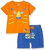 Tuc Tuc Camiseta+Bermuda Punto NIÑO Animal Crew Conjunto de Ropa, Azul (Azul 16), 68 (Tamaño del Fabricante:6M) para Bebés