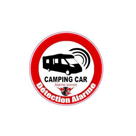 Alarmanlage für Camping, Logo, 28, Alarmsignal, selbstklebend, selbstklebend