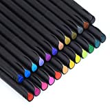 24 Rotuladores de Punta Fina de Colores, Boligrafo Fineliner 0,4 mm Colorear (Adultos y Niños), Dibujar, Manga, Mandalas y Lettering, 20420