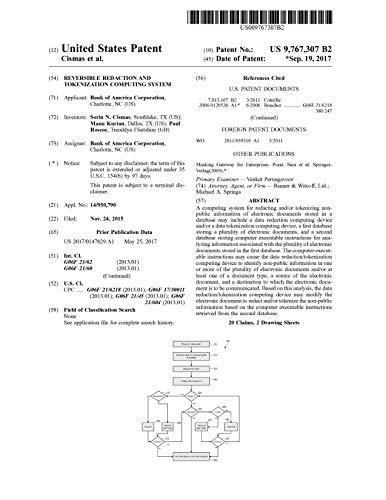 Reversible redaction and tokenization computing system: 97673079767307 (English Edition)