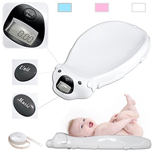 Todeco - Baby Scale, Electric Baby Scale - Size: 65.4 x 33.2 x 11.6 cm...