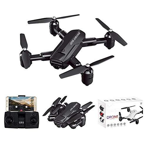 QIXIAOCYB 2. 4G GPS. Drone con HD Fotocamera Video Live Video Quadcopter Portatile for Principianti con Auto Ritorna Home Custom Flight Path Seguimi (Color : Black, Size : 1080P)