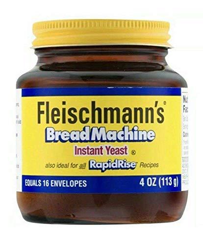 Fleischmann's Bread Machine RapidRise Instant Yeast Glass Jar 4oz
