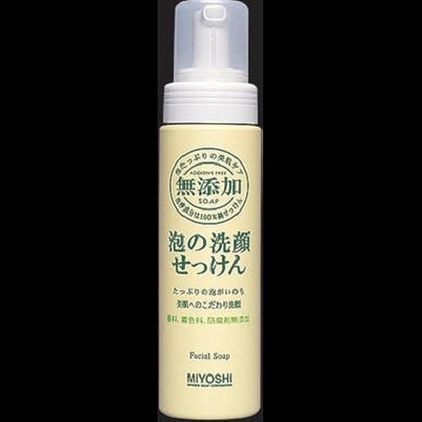 崖精神医学【まとめ買い】ミヨシ 無添加 泡の洗顔せっけん ×2セット