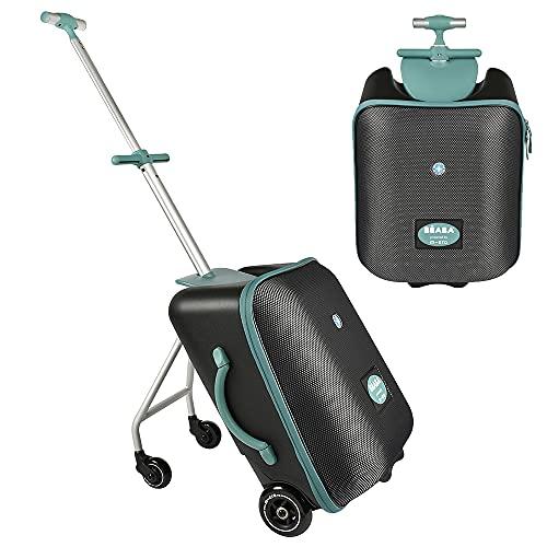 BÉABA - Maleta de Cabina 2 en 1 con Asiento para niños, a Partir de 4 años, Ampliable, Capacidad 22 L, Varios Compartimentos, Práctica y Manejable, Luggage Eazy