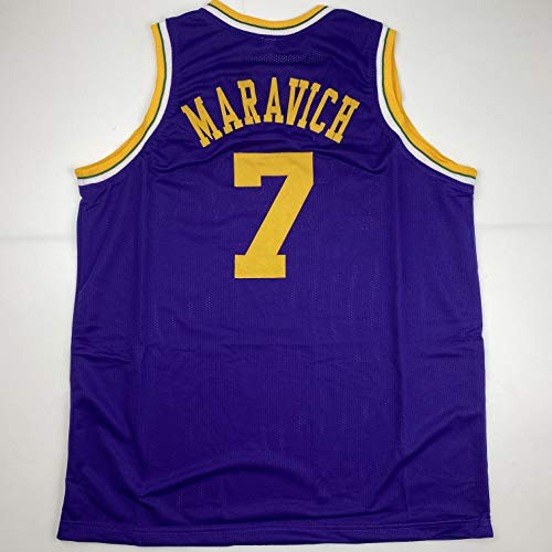 Unsigned Pistol Pete Maravich Utah Purple Custom Stitched Basketball Jersey Size Men's XL New No Brands/Logos