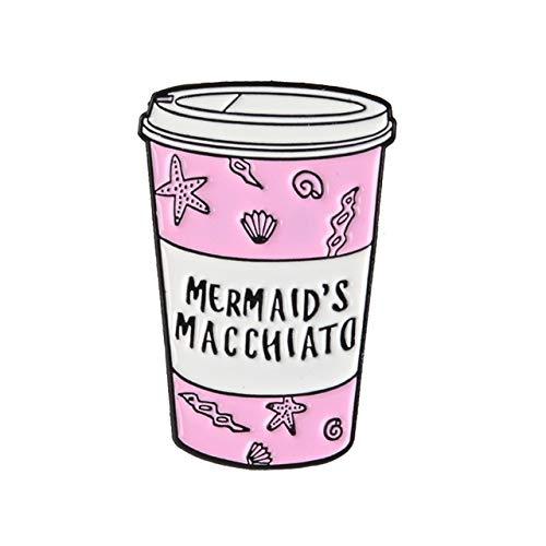 Brew princesa insignia Café de la leche Broche de la bruja de broches de solapa camisa de jeans joyería Mochila de dibujos animados del cumpleaños Taza de los amantes ( Metal color : MACCHIATO )
